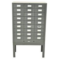 Vintage Cole Steel 27 Drawer Metal Machinist Tool Parts Cabinet Garage Chest