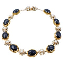 Vintage Collectable Christian Dior Necklace With Faux Pearls 1965