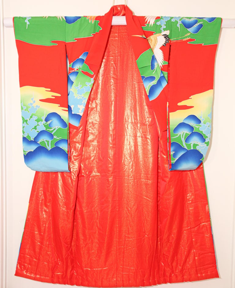 Vintage Collectable Japanese Ceremonial Kimono For Sale 3