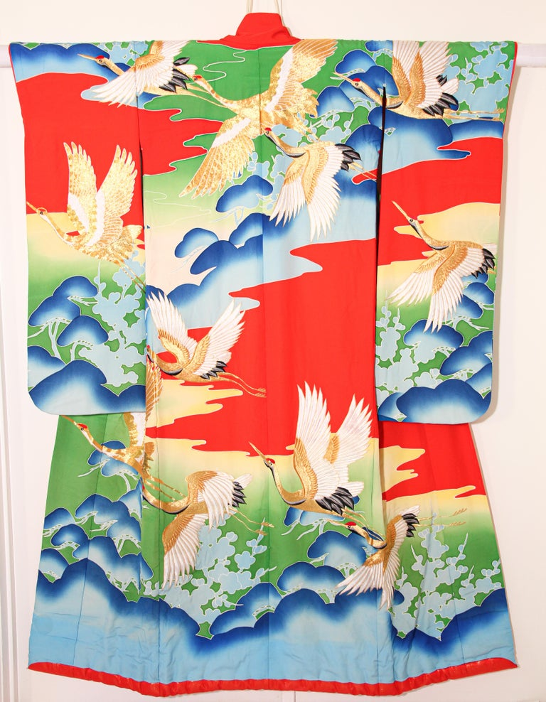 Vintage Collectable Japanese Ceremonial Kimono For Sale 8
