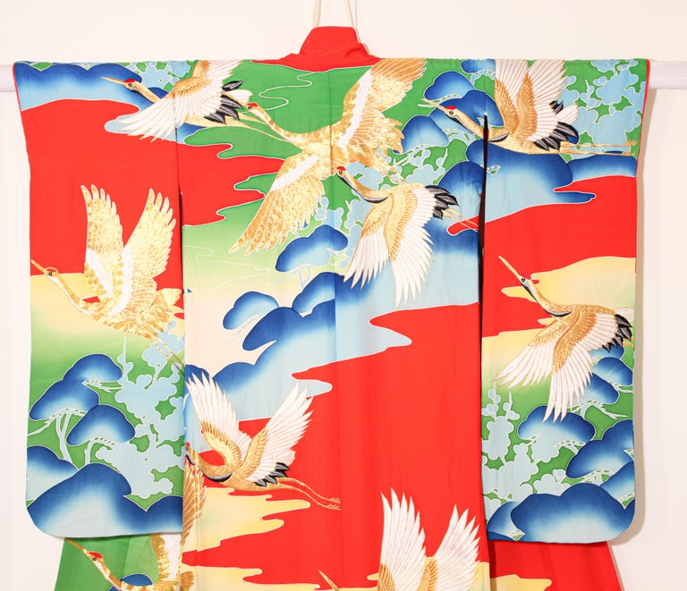 Vintage Collectable Japanese Ceremonial Kimono For Sale 9