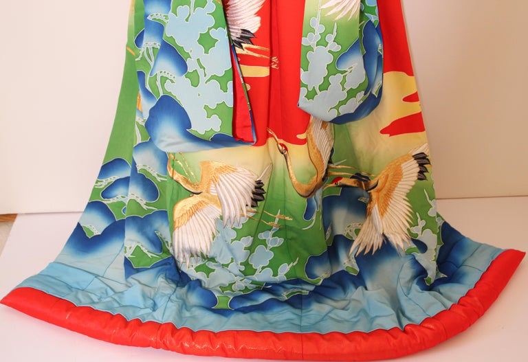 20th Century Vintage Collectable Japanese Ceremonial Kimono For Sale