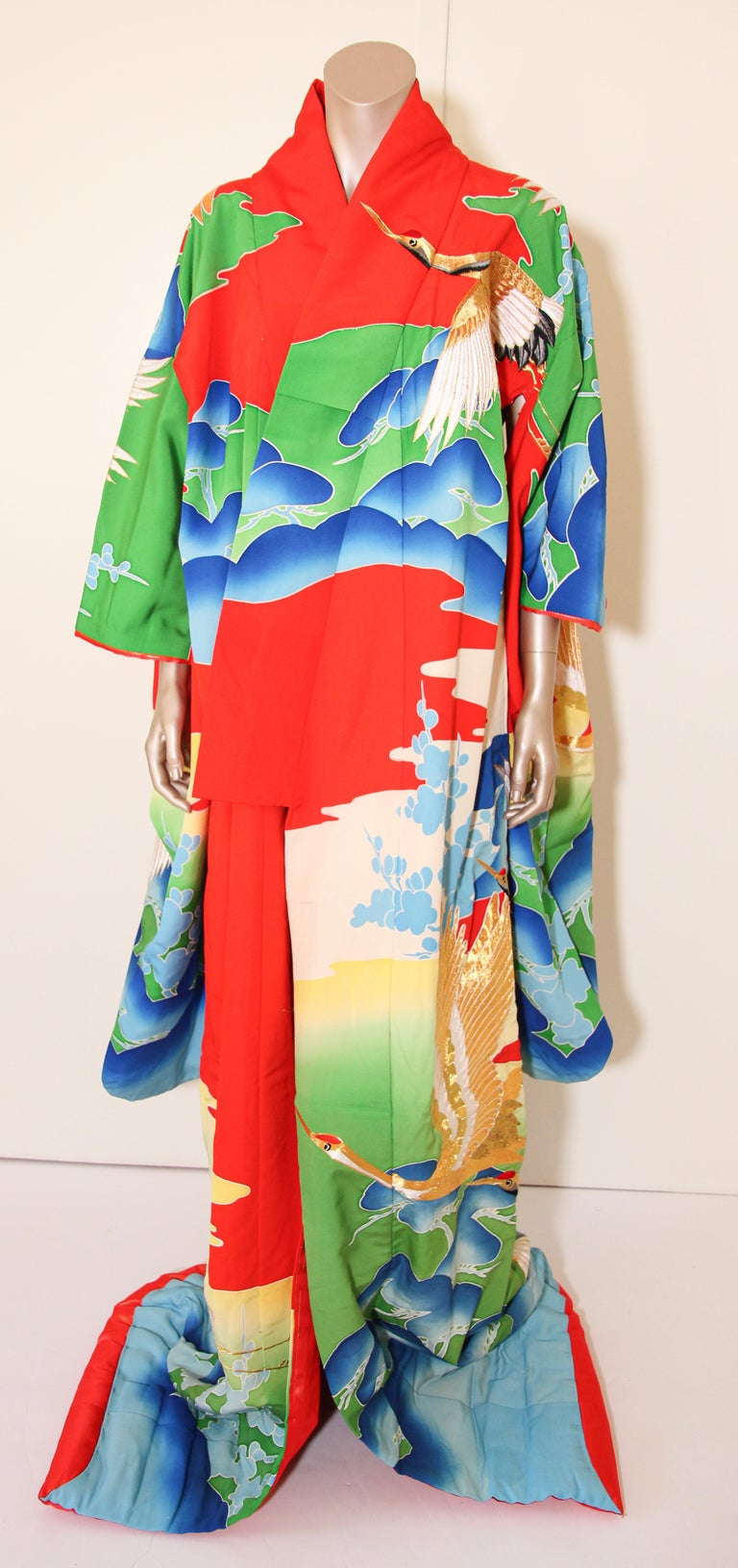 Brocade Vintage Collectable Japanese Ceremonial Kimono For Sale