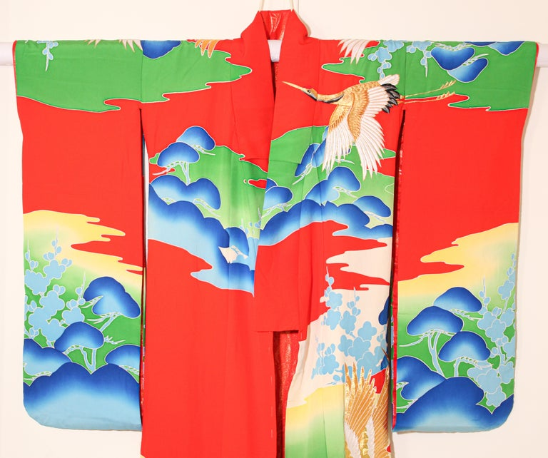 Vintage Collectable Japanese Ceremonial Kimono For Sale 1