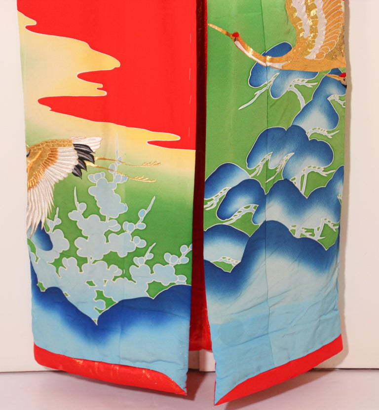 Vintage Collectable Japanese Ceremonial Kimono For Sale 2