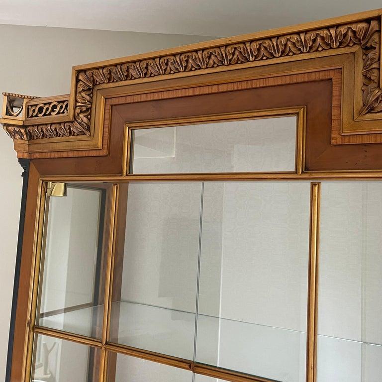 Vintage Colombo Mobli Italian Biedermeier Style Vitrine Cabinet 6
