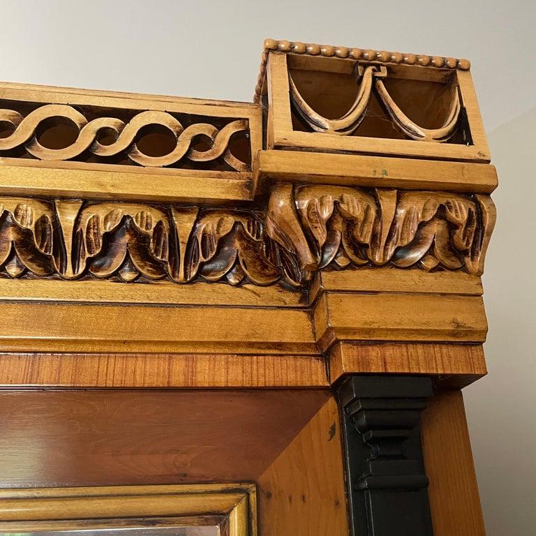 Vintage Colombo Mobli Italian Biedermeier Style Vitrine Cabinet 8