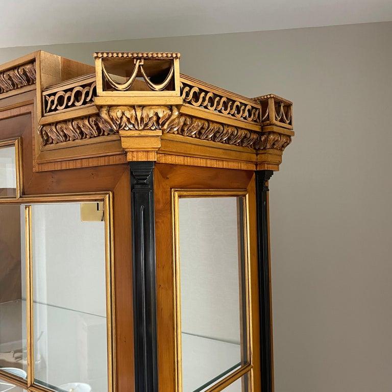 Vintage Colombo Mobli Italian Biedermeier Style Vitrine Cabinet 10