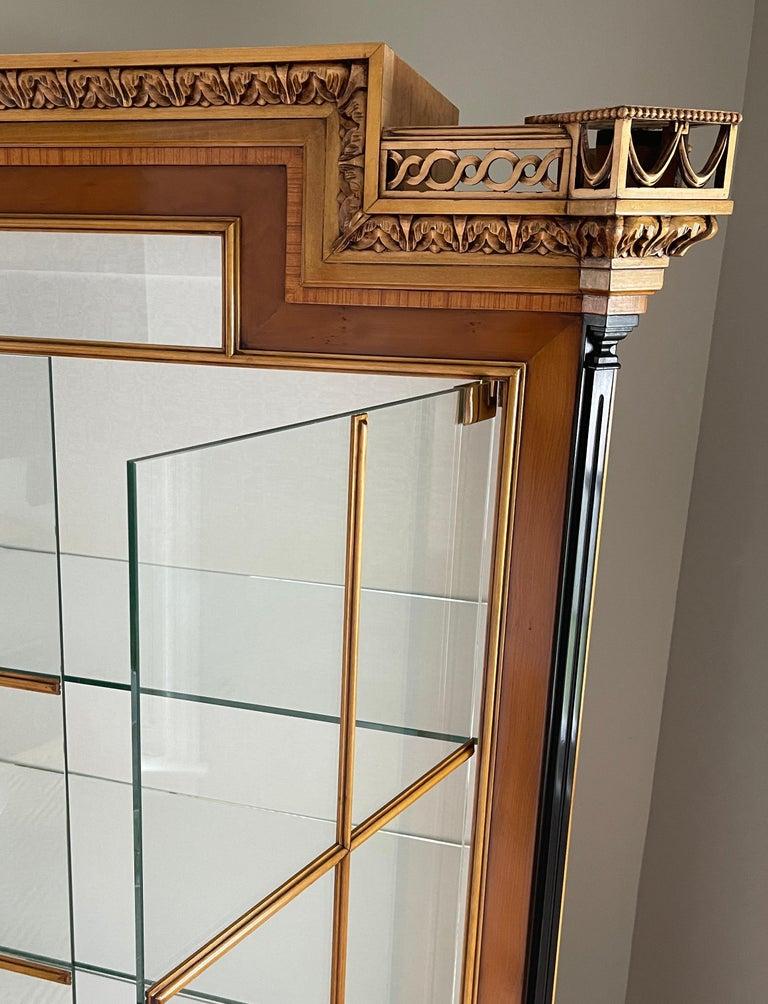 Vintage Colombo Mobli Italian Biedermeier Style Vitrine Cabinet 13