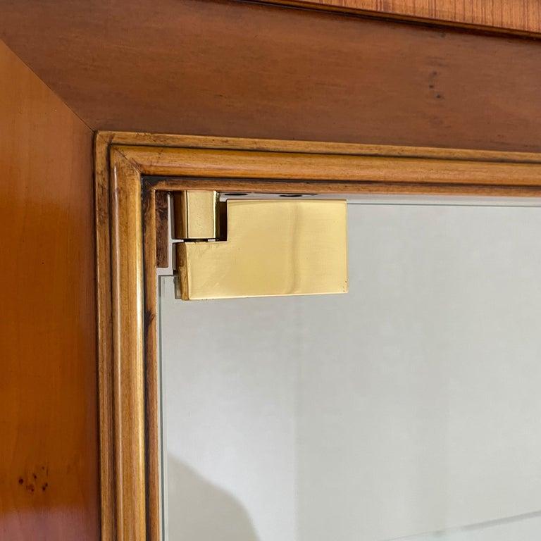 Glass Vintage Colombo Mobli Italian Biedermeier Style Vitrine Cabinet