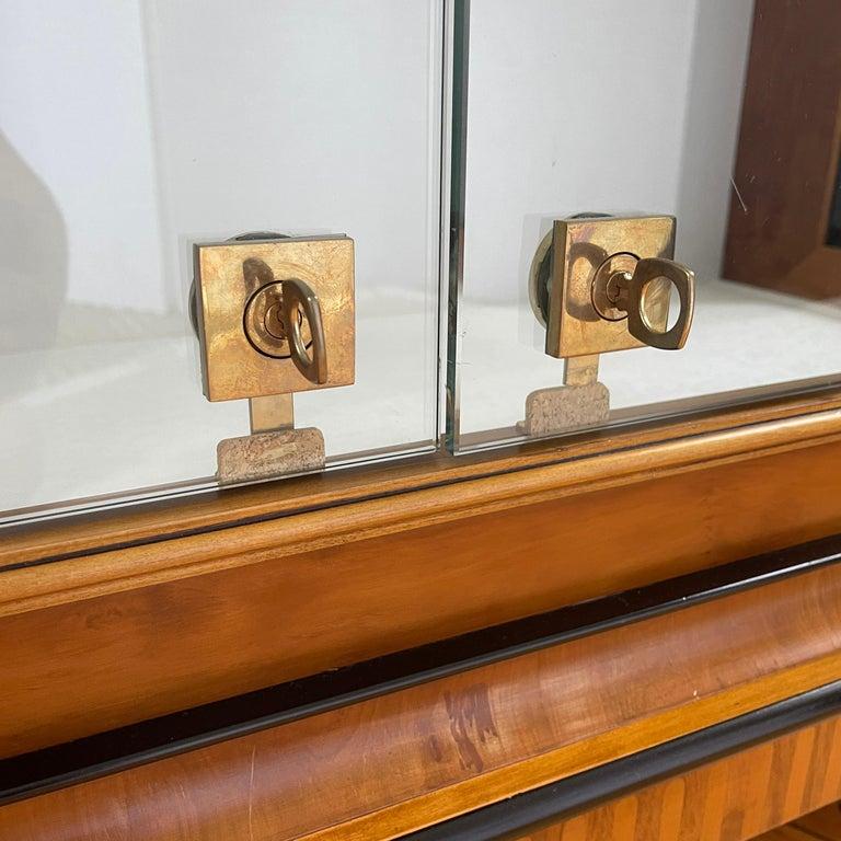 Vintage Colombo Mobli Italian Biedermeier Style Vitrine Cabinet 1