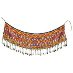 Vintage Colorful Beaded Skirt from The Kirdi People, Cameroon, 1970s