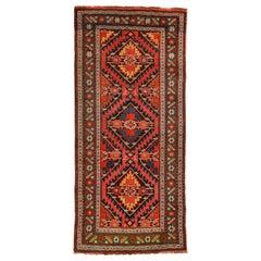 Vintage Colorful Caucasian  Rug