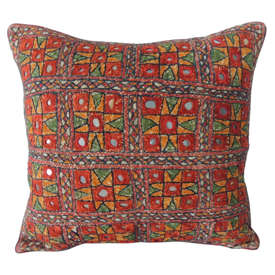 Vintage Colorful Square Embroidered Decorative Pillow