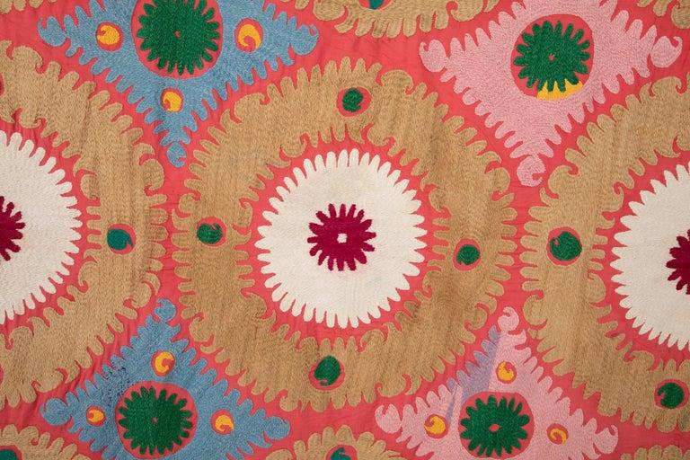 Embroidered Vintage Colorful Suzani from Samarkand Uzbekistan, 1960s