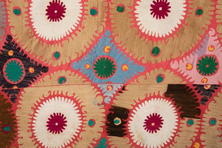 Cotton Vintage Colorful Suzani from Samarkand Uzbekistan, 1960s