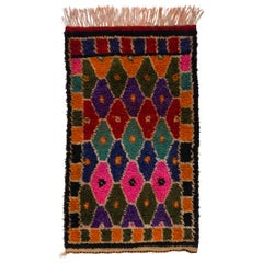 Vintage Hand-knotted Wool Tulu Rug from Central Turkey in Bright Colors