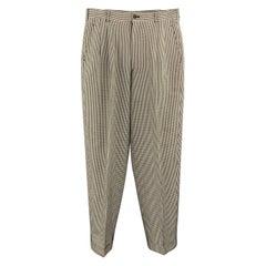 Vintage COMME des GARCONS HOMME PLUS Size S Black & White Nailhead Casual Pants