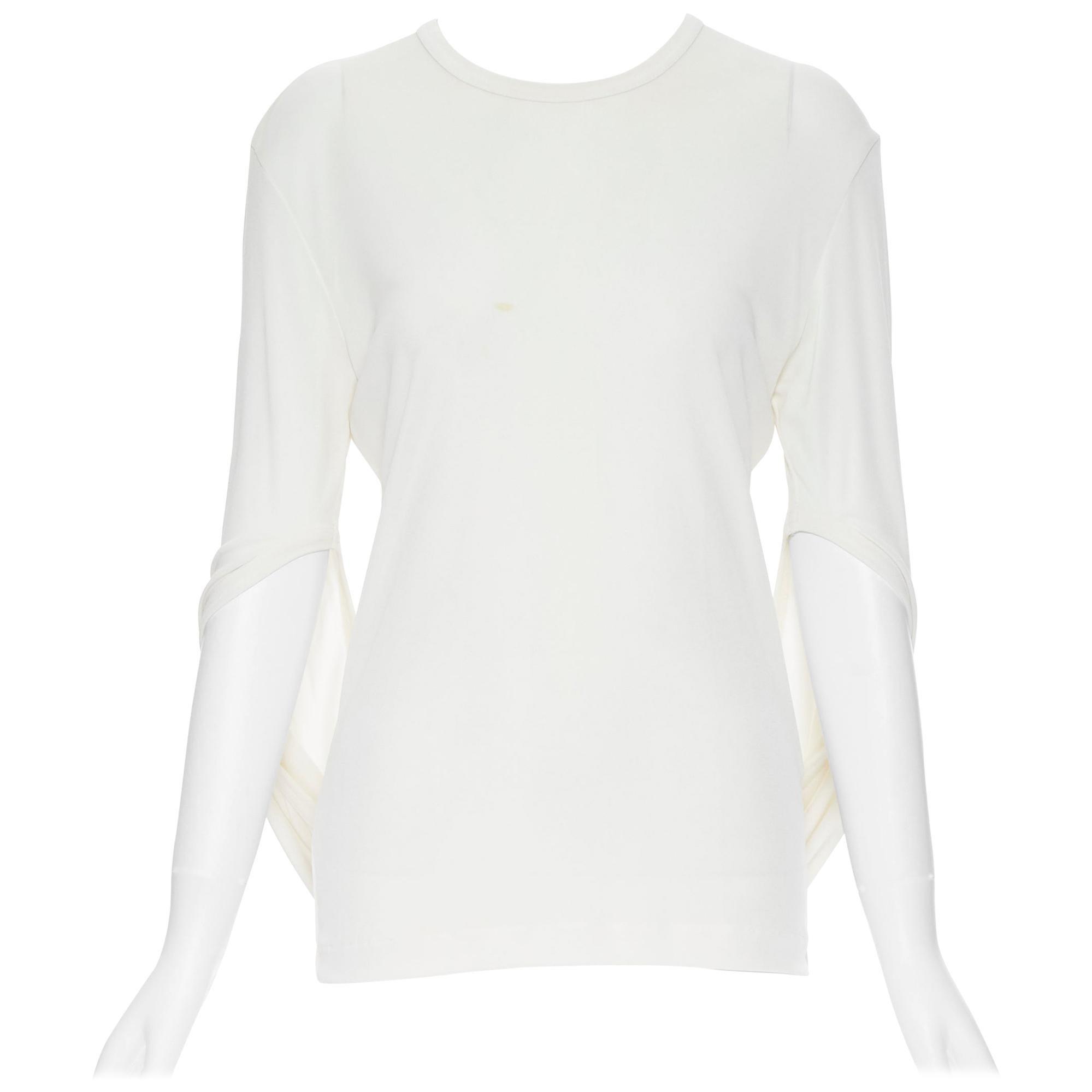 vintage COMME DES GARCONS ROBE DE CHAMBRE 1990 white infinity loop sleeve top S
