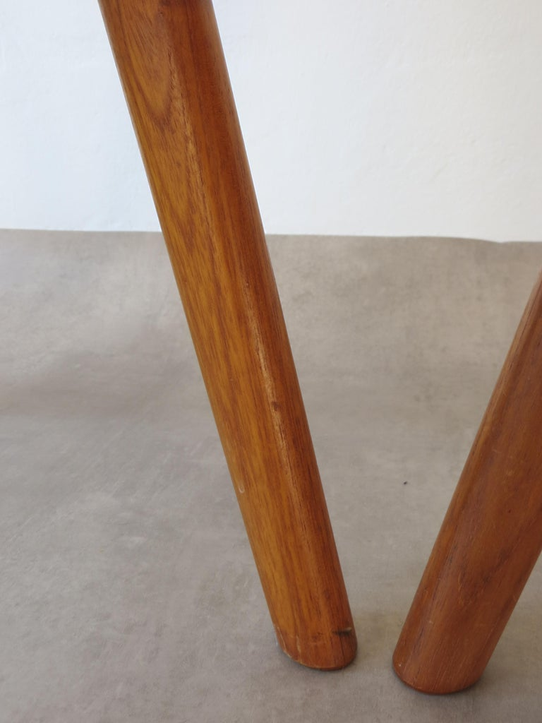 Vintage Compass Chairs by Kai Kristiansen in Solid Teak and Wool, Denmark, 1950s 16