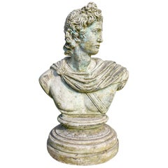 Vintage Composition Bust of Classical Male, 20th Century