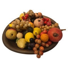 Vintage Compote with 18 Assorted Italian Stone Fruit