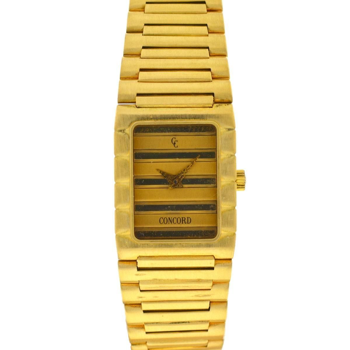 Vintage Concord Dameuri Watch 18 Karat Yellow Gold Ladies Quartz