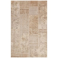 """Vintage Contemporary Area Rug, Wool Made of Recycle Carpets, """"Vintage Delux"""""""