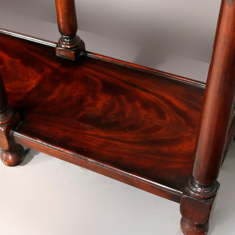 Vintage Continental Flame Mahogany Three-Drawer Silver Server, circa 1940 For Sale 5