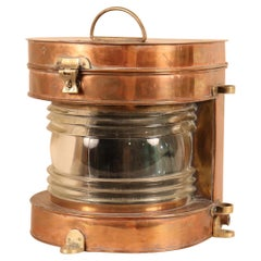 Vintage Copper and Brass Maritime Ship's Masthead Light