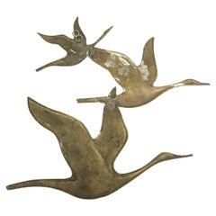 Vintage Copper Bird Sculpture, 1970s