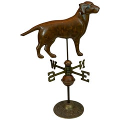 Vintage Copper and Brass Table Top Model of a Weathervane
