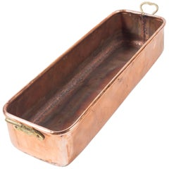Vintage Copper Fish Pan, Early 20th Century