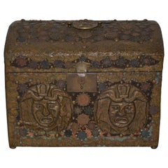 Vintage Copper Folk Art Box, circa 1940s