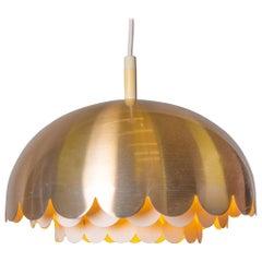 Vintage Design Copper Pendant Light by Doria, Germany, 1960s