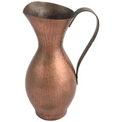 Vintage Copper Pitcher by Eugen Zint, 1950s
