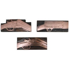 Vintage Copper Printing Blocks of Bayard Shotgun Rifles