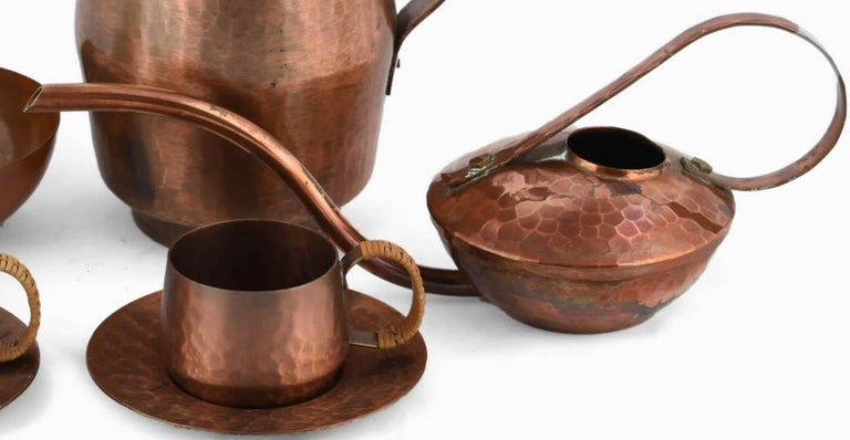Vintage Copper Set by Eugen Zint, Germany, 1960s In Good Condition For Sale In Roma, IT