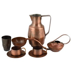Vintage Copper Set by Eugen Zint, Germany, 1960s