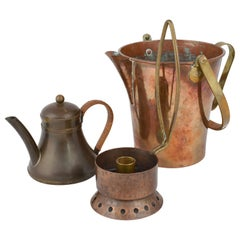 Vintage Copper Set by Harald Buchrucker, Germany, 1950s