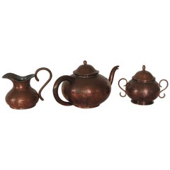 Vintage Copper Tea or Coffee Serving Set
