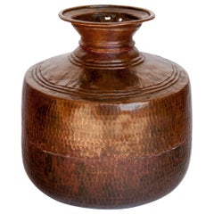 Vintage Copper Water Pot, Hand Hammered, from Nepal, Mid-20th Century