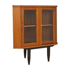 Vintage Corner Cabinet Teak Danish Design, 1960s