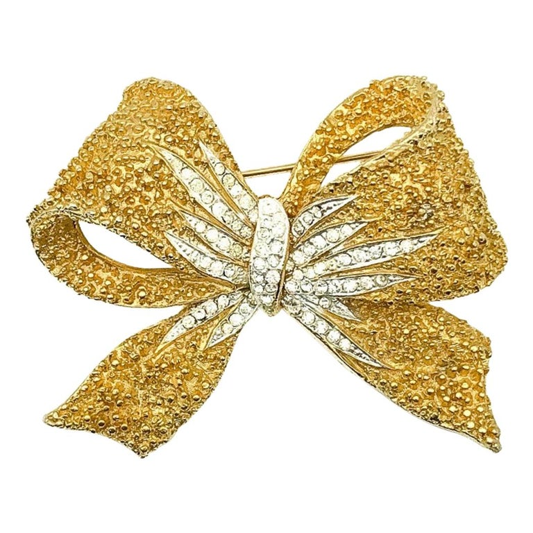 Vintage Corocraft Floppy Bow Brooch 1960s For Sale