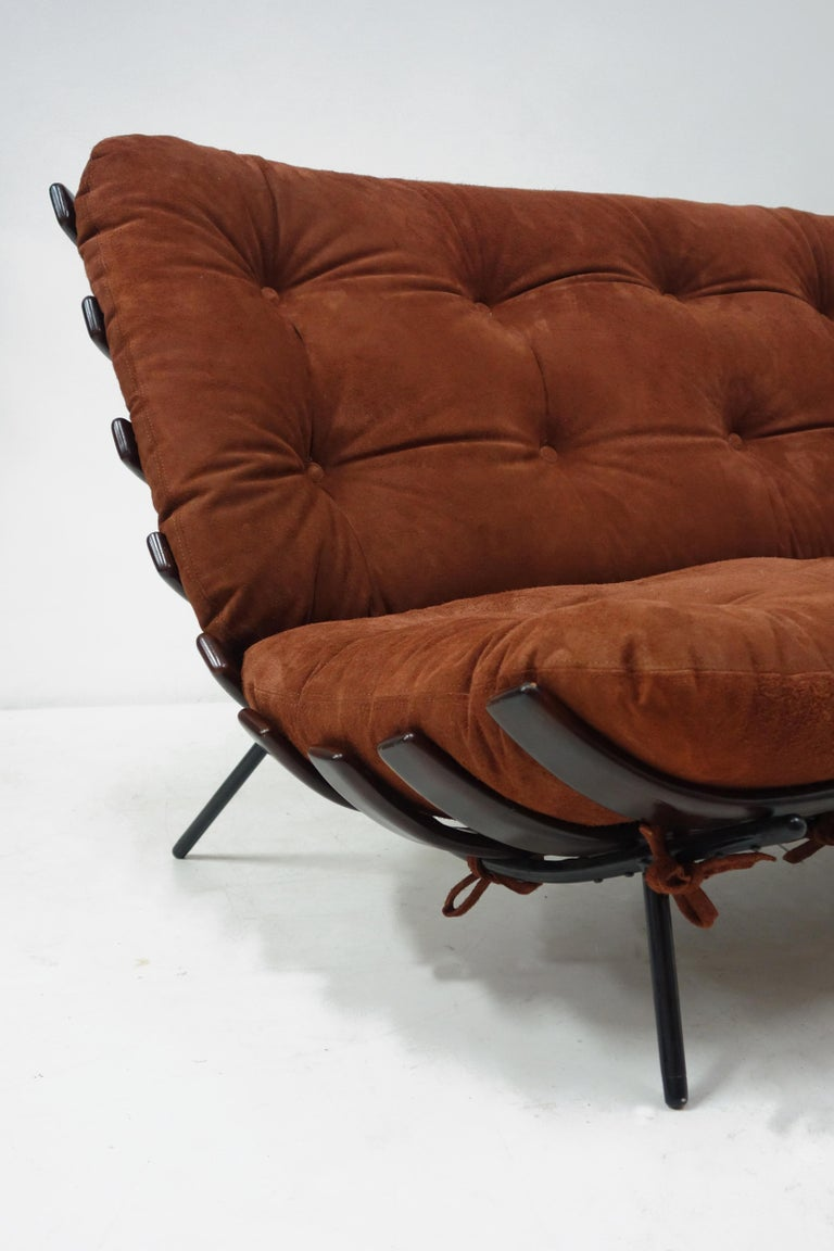 Brazilian Vintage Costela Sofa by Carlo Hauner and Martin Eisler, Edited by Forma For Sale
