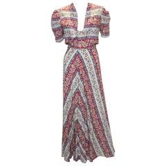 Vintage Cotton Dress and Bolero  Jacket