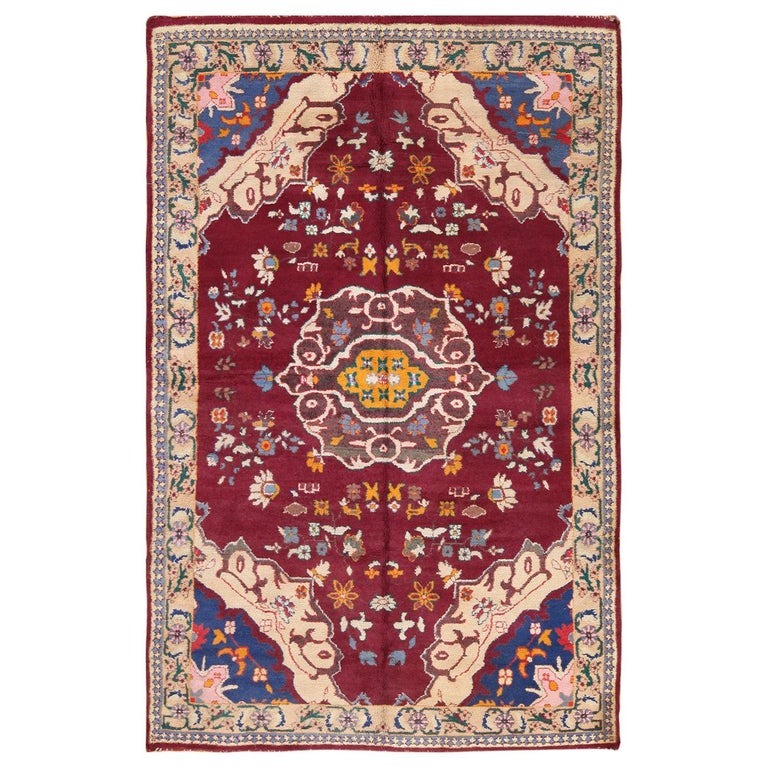 Antique Indian Agra Rug For Sale At 1stdibs: Vintage Cotton Indian Agra Rug For Sale At 1stdibs