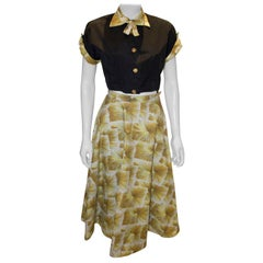 Vintage Cotton Skirt and Top