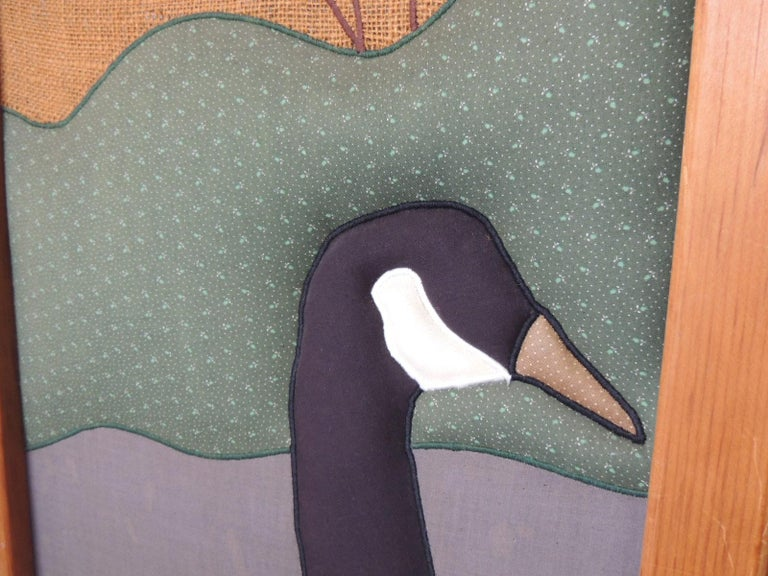 Vintage Country Quilt '3' Panel Screen with Quilted Geese For Sale 3