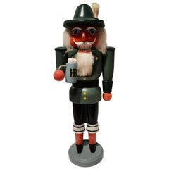 Vintage Country Style German Christmas Nutcracker Wood Erzgebirge Germany